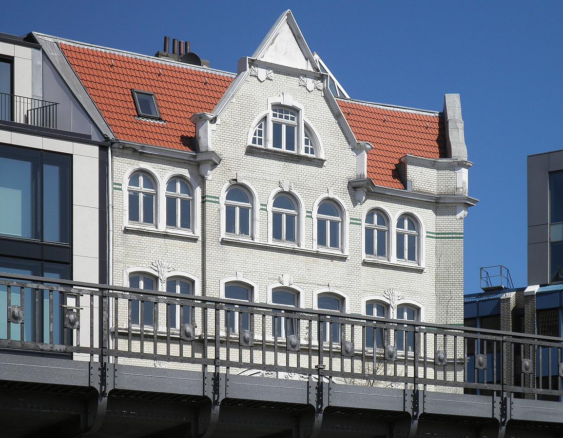 Weisses Backsteinhaus Hamburg