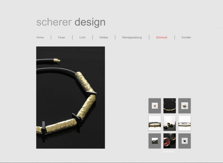 Website des Künstlers Otto Scherer