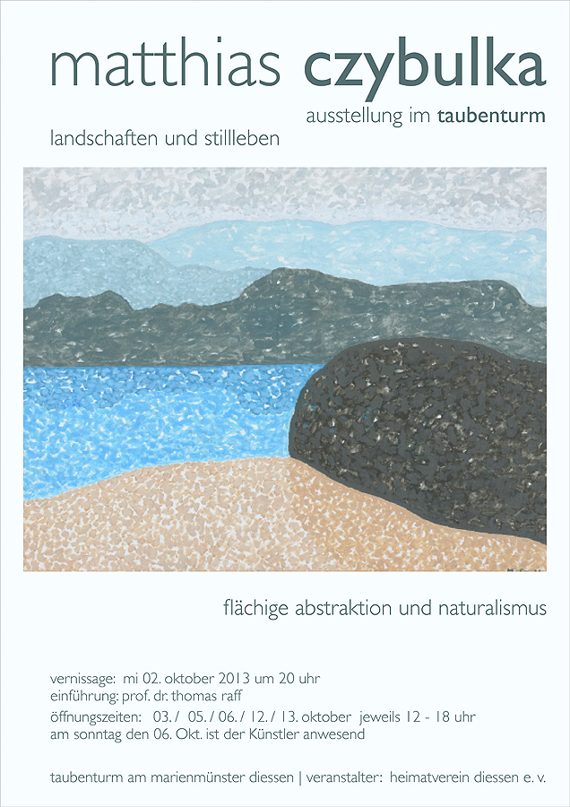 Grafikdesign - Plakat des Künstlers Matthias Czybulka