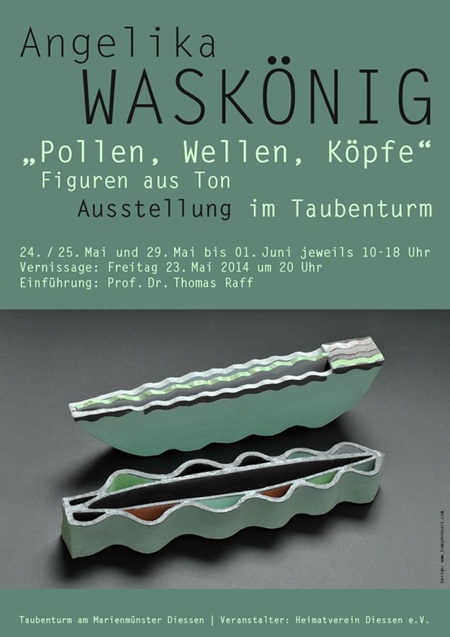 Grafikdesign - Plakat der Künstlerin Angelika Waskönig