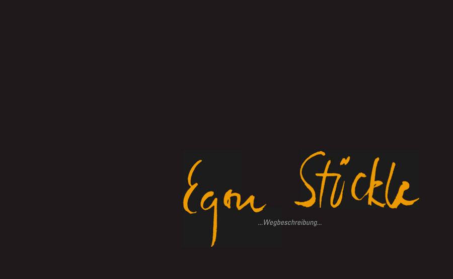 Grafikdesign - Katalog / Lebenswerk des Künstlers Egon Stöckle