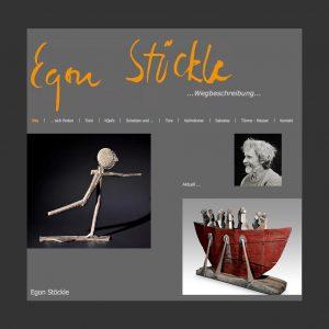 Website des Bildhauers Egon Stöckle