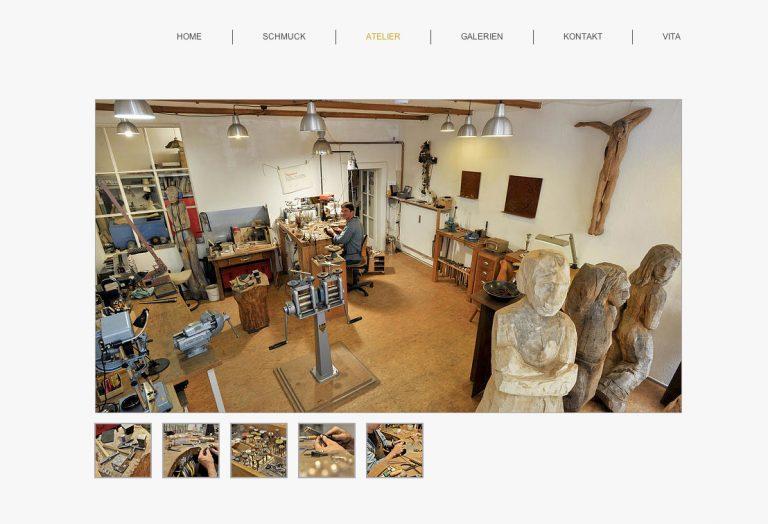 Website des Künstlers und Goldschmieds Erik Urbschat