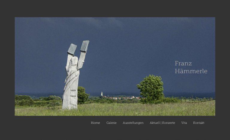 Website des Künstlers Frank Hämmerle